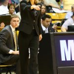 Colorado Head Coach Linda Lappe reacts to a call at the Coors Event Center. (Nigel Amstock/CU Independent)