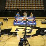 ESPN College GameDay crew test their camera shots. (Kai Casey/CU Independent)