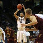 Askia Booker shoots a free throw against Arizona St. (Matt Sisneros/CU Independent)