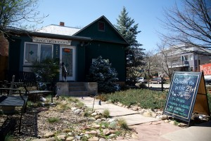 The Village Green Society, located on the corner of Spruce and 16th Street in Boulder, Colo. (Nate Bruzdzinski/CU Independent)