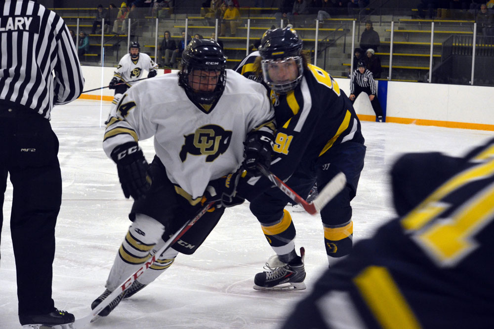 low priced ef585 c2218 Icy weekend brings three losses at home for CU hockey