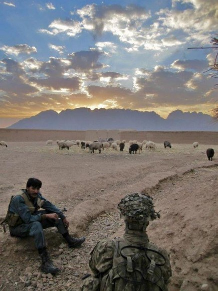 The sun sets over the Afghan mountains. (Photo courtesy of James)