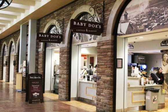 Baby Doe's Coffee & Bakery under the arches stands as a possible sight for a new Starbucks Coffee in the University Memorial Center. (Sarah Meisel/CU Independent).