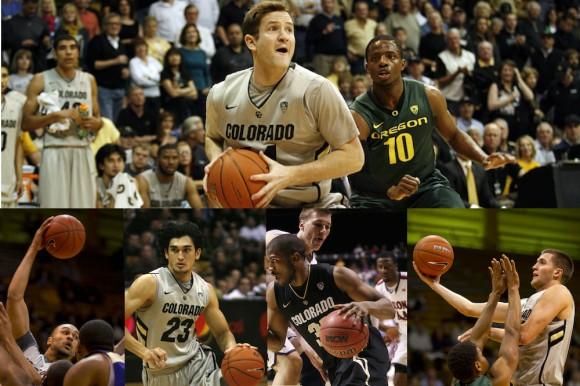 Colorado basketball alumni Beau Gamble(top) with his tournament team of fellow alumni (left to right) Sabatino Chen, Jeremey Adams,