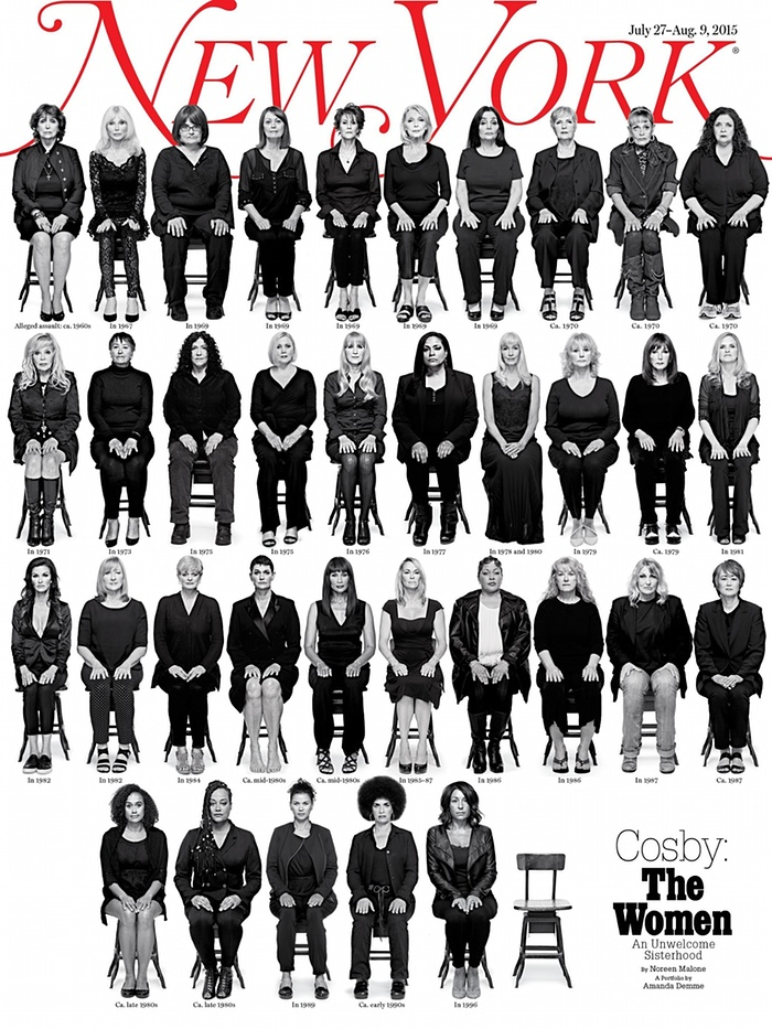 A Photo from New York Magazine that shows 35 of the 46 women who have sexual assault allegations against Bill Cosby that span five decades. (Amanda Demme/EPA)