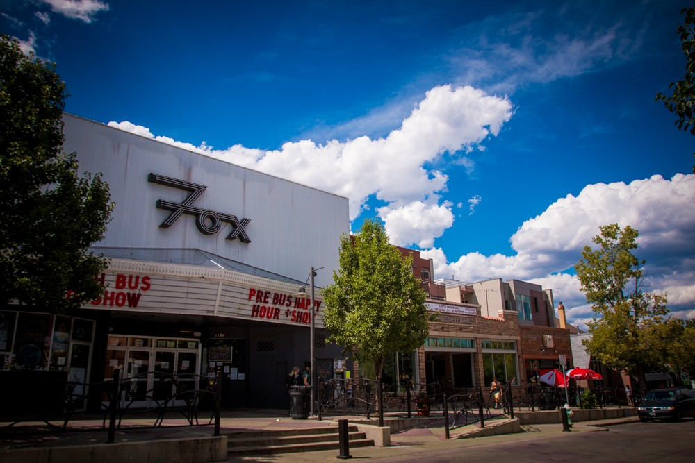 The marquee of the Fox Theater on the Hill in Boulder. (Robert Hylton/CU Independent)