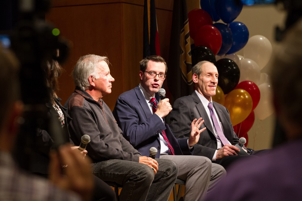The Post Debate panel discusses the GOP Debate in the Glenn Miller Ballroom that occured on October 28th, 2015. (Will McKay/CU Independent)
