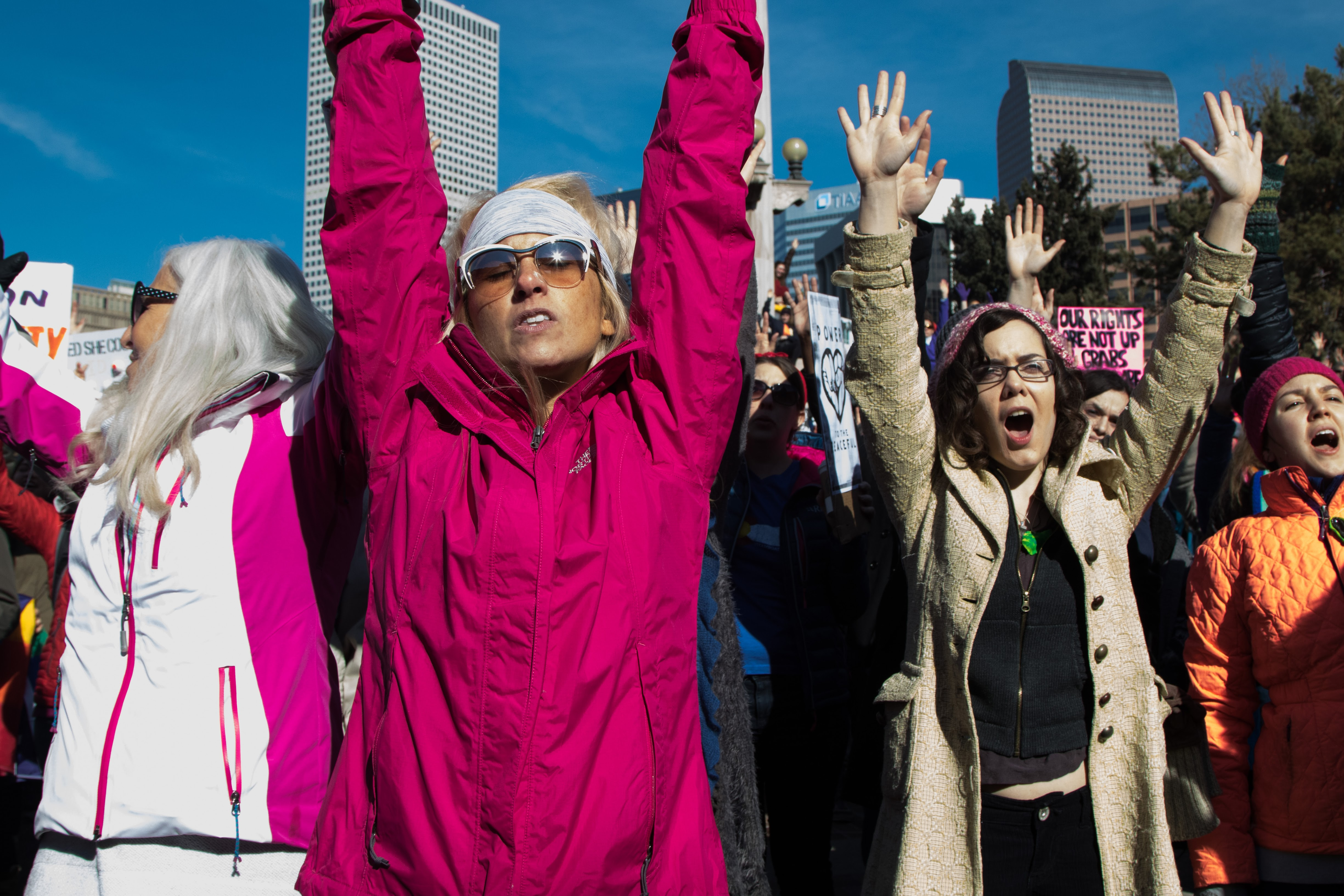 Women's March on Denver, aimed at Trump administration, draws over 100,000