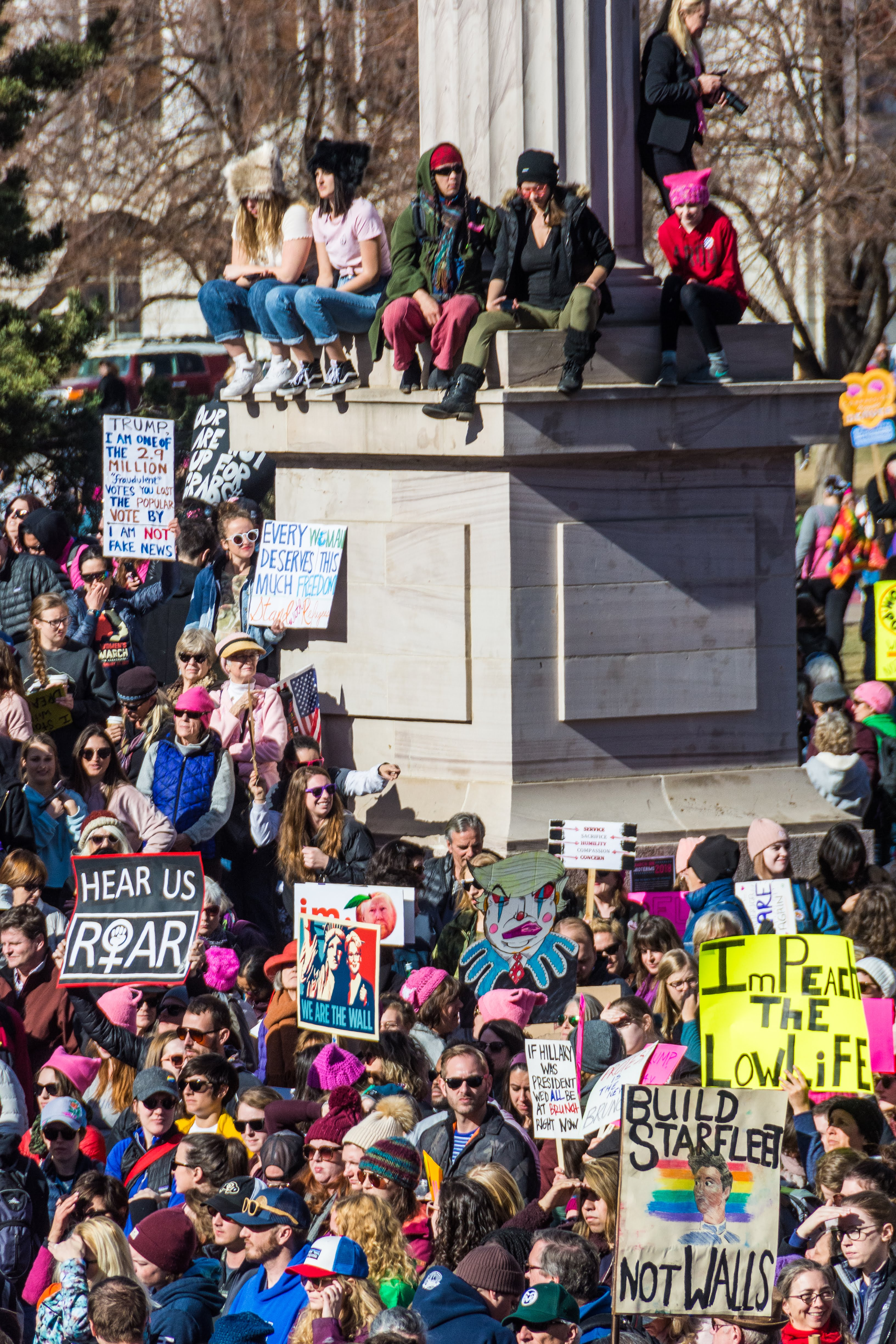 Diverse groups protest at Women's March in Denver