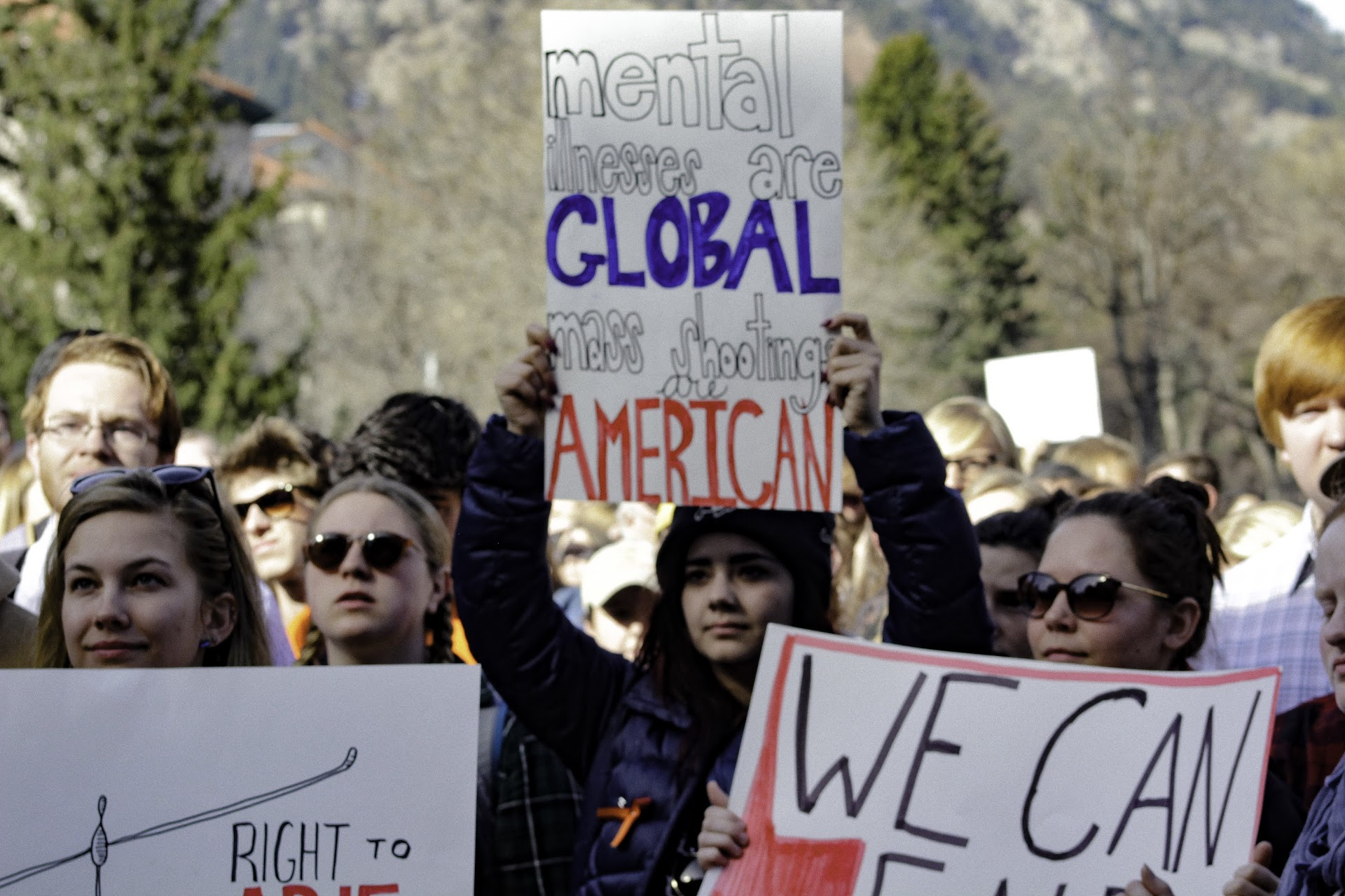 Students walk out of class in protest against gun violence