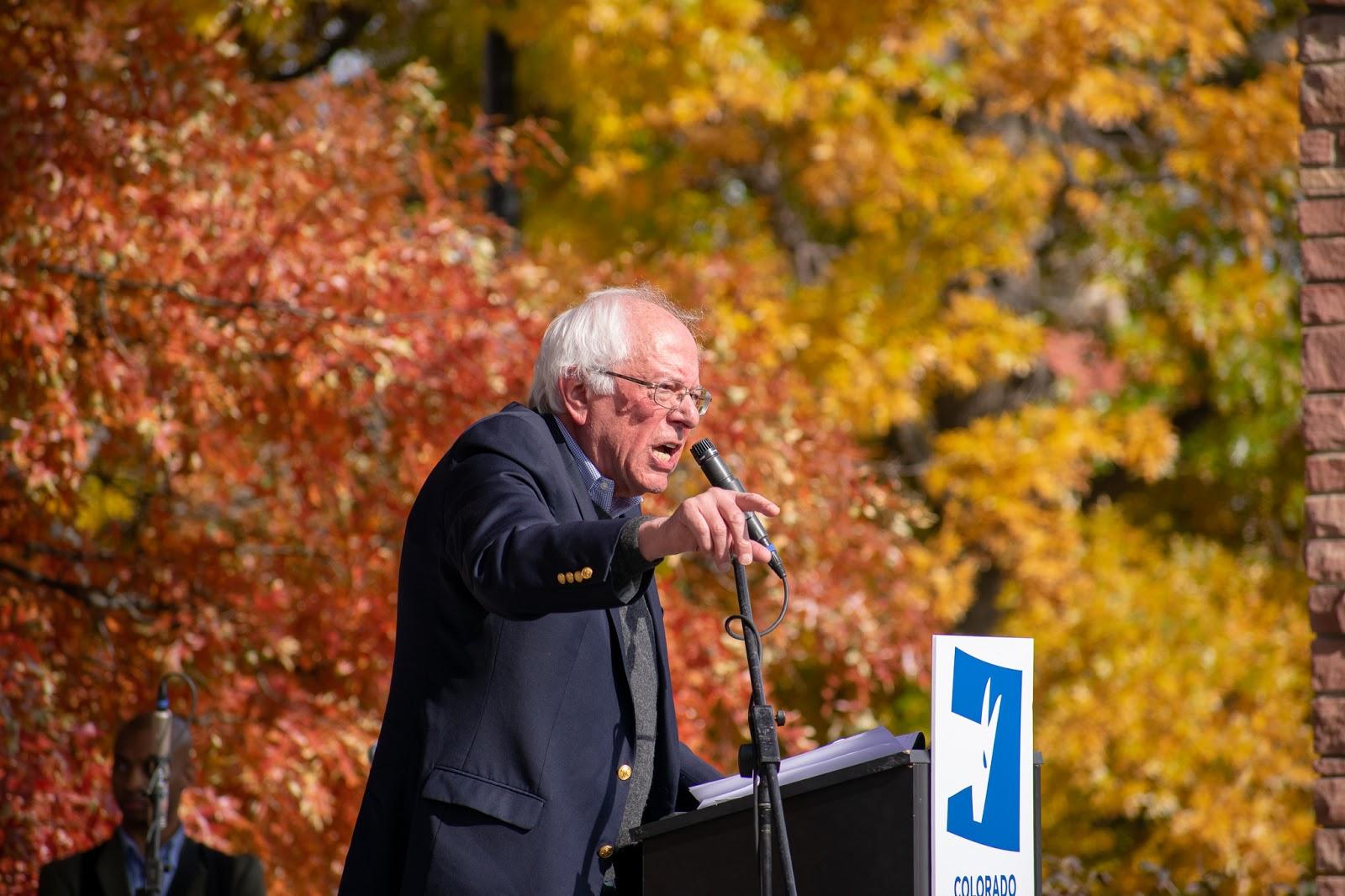Bernie Sanders rallies on Farrand Field with Colorado Dem. candidates
