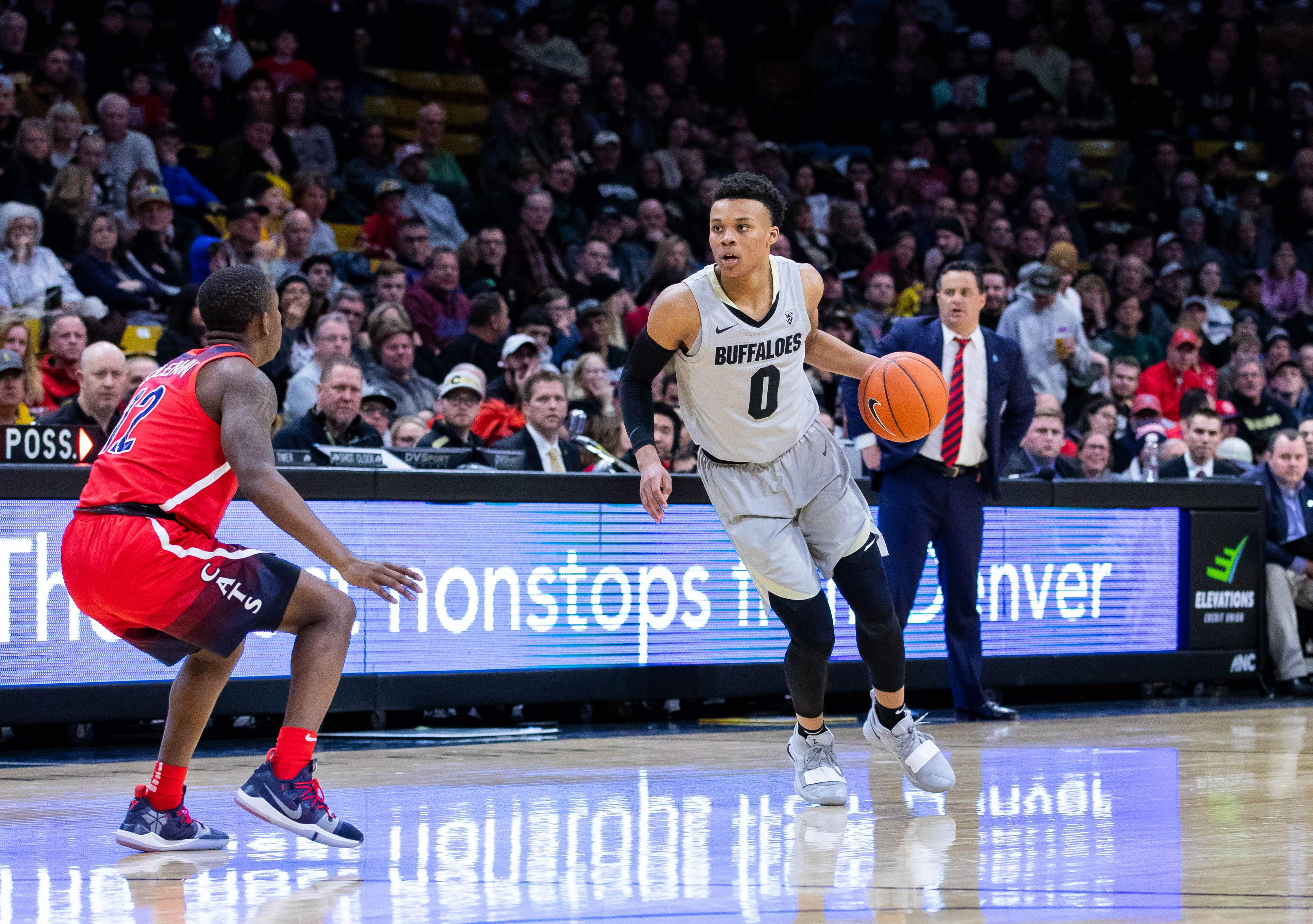 Buffaloes win their fifth straight, defeat Arizona, 67-60