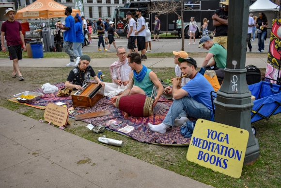A group promoting books on yoga and meditation through music.