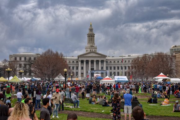 Mile High Festival in front of the Denver City and Council Building.