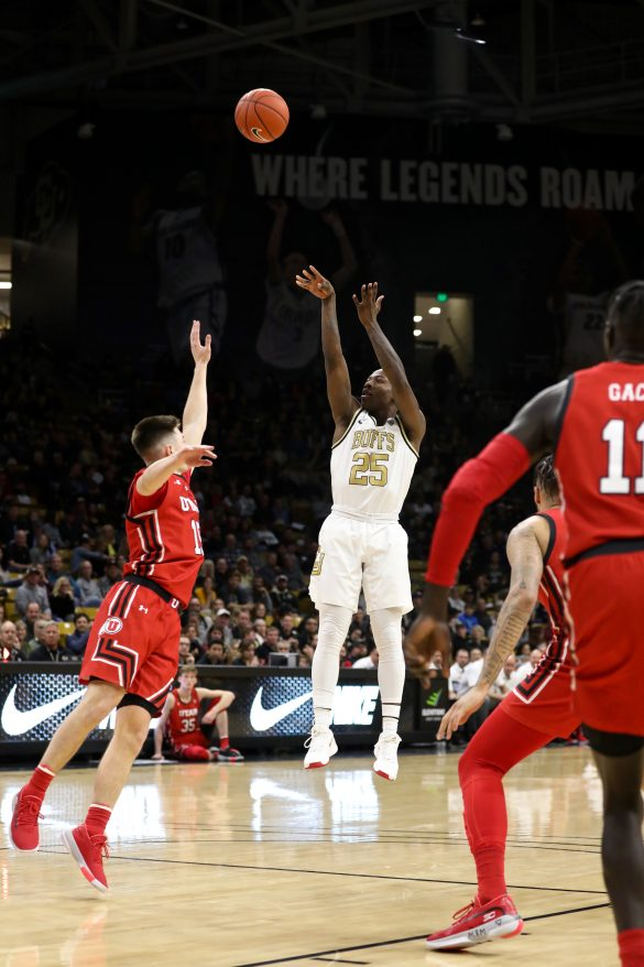 Buffs rebound from Oregon State loss, dominate Utes 91-52